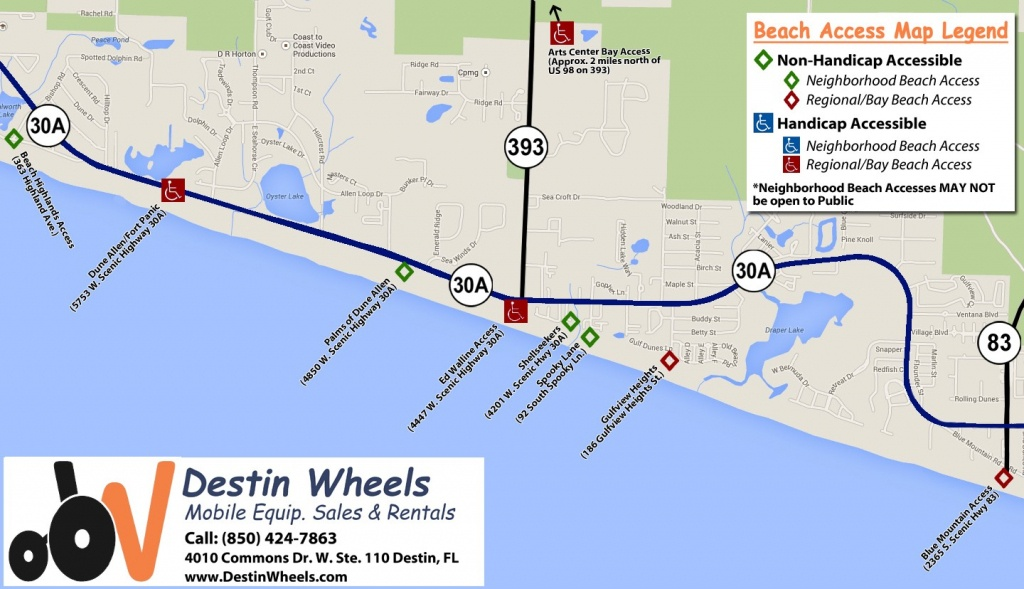 30A & Destin Beach Access - Destin Wheels Rentals In Destin, Fl - Where Is Destin Beach Florida On The Map