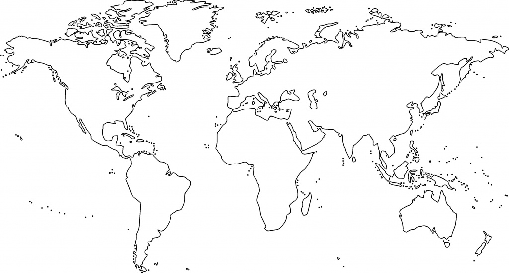 38 Free Printable Blank Continent Maps | Kittybabylove - Printable World Map Outline Ks2