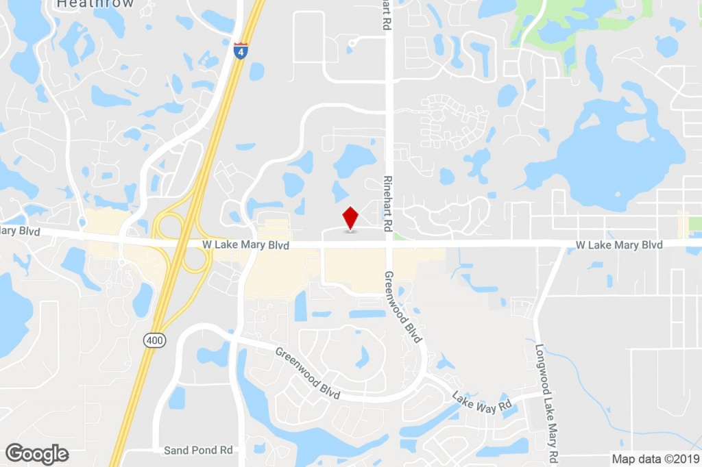 4106 W Lake Mary Blvd, Lake Mary, Fl, 32746 - Medical Property For - Lake Mary Florida Map