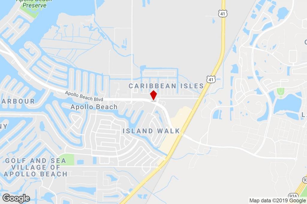 411 Apollo Beach Blvd, Apollo Beach, Fl, 33572 - Executive Suite - Map Of Florida Showing Apollo Beach