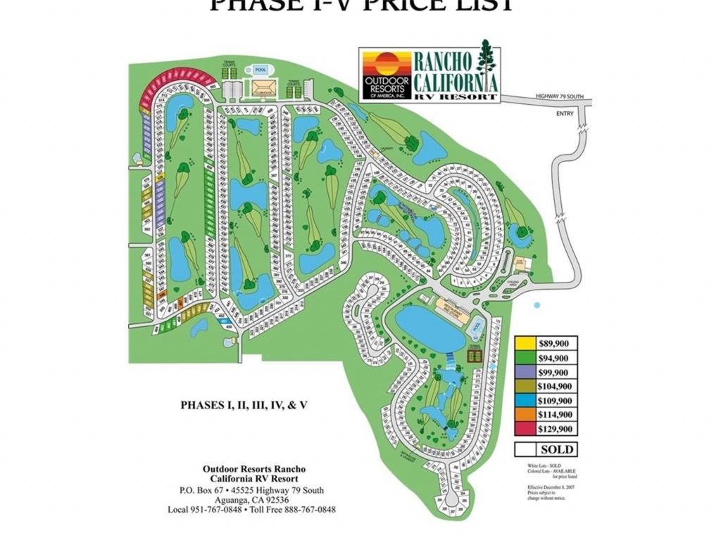 45525 Hwy 79 Lot 181, Aguanga, Ca 92536   Mls# Sw18119640   Purplebricks - Rancho California Rv Resort Site Map