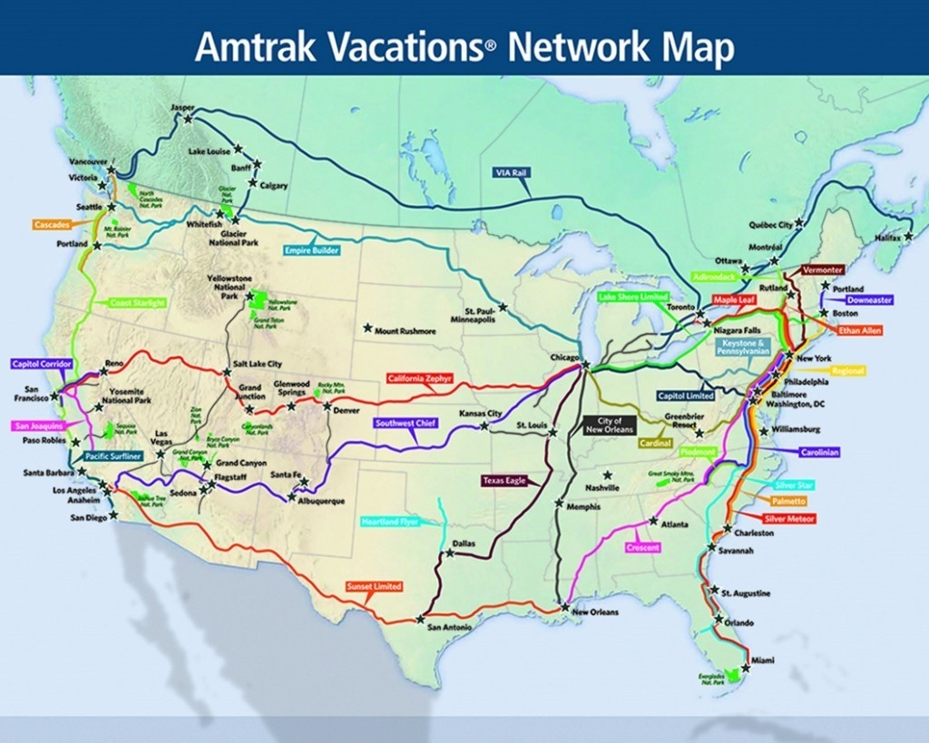 5 Iconic Train Journeys To Check Off Your Bucket List   Amtrak Vacations - Amtrak Map Southern California