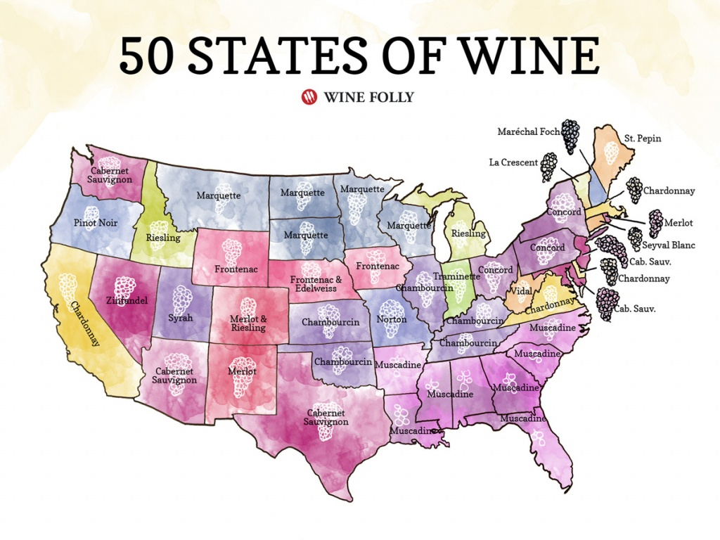 50 States Of Wine (Map) | Wine Folly - Texas Winery Map