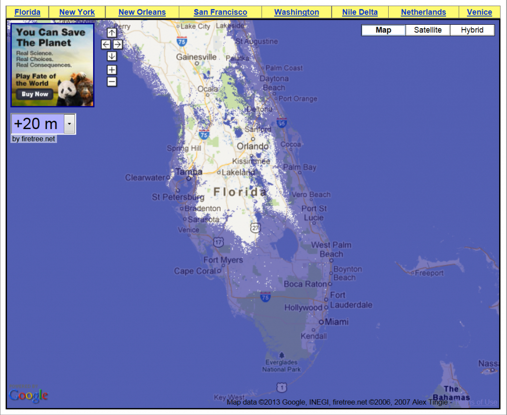 69 Feet Of Sea Level Rise – Getting A Grip On The Magnitude Of The - Florida Map After Global Warming