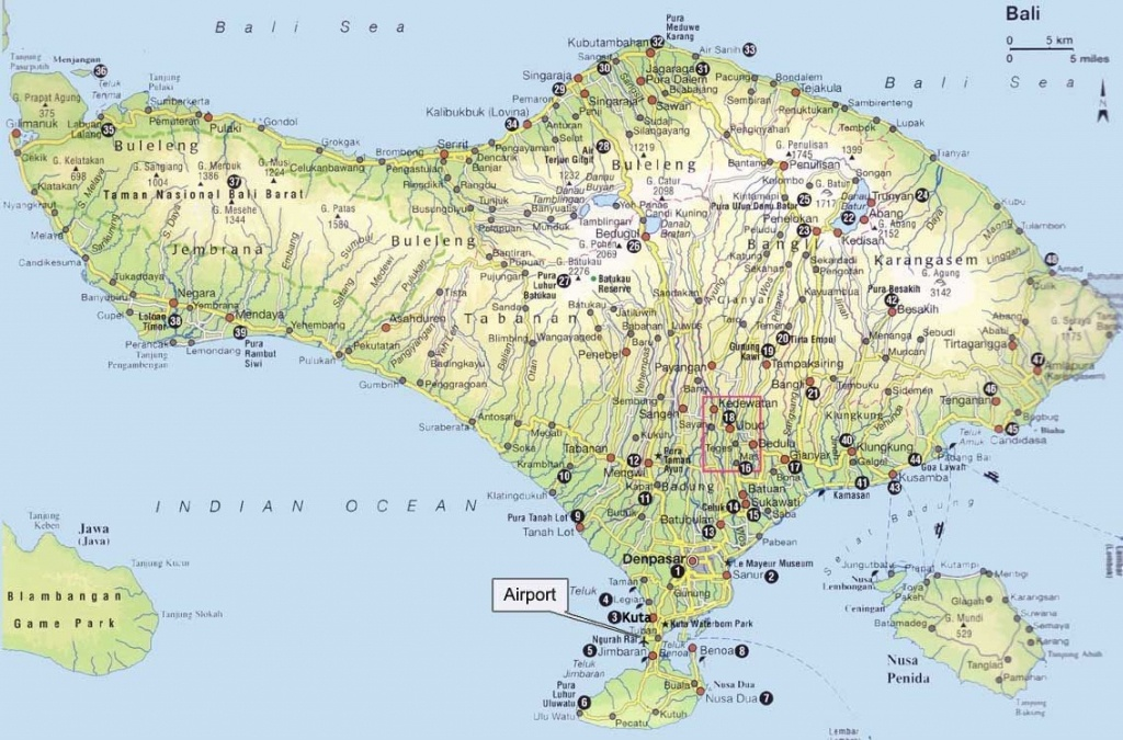 7 Bali Maps - Bali On A Map,regions, Tourist Map And More - Printable Map Of Bali