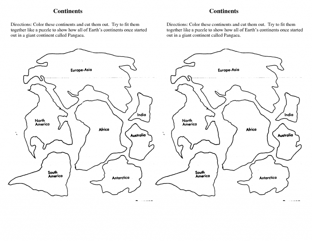 7 Continents Cut Outs Printables | World Map Printable | 7 - Seven Continents Map Printable