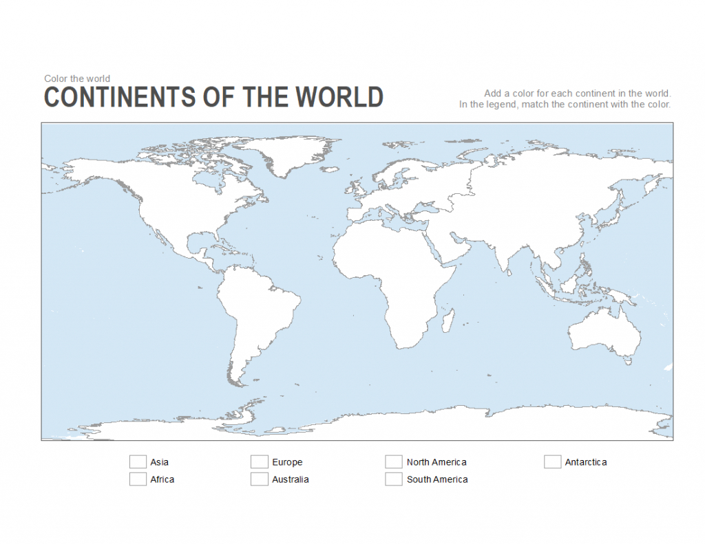7 Printable Blank Maps For Coloring Activities In Your Geography - Continents Of The World Map Printable