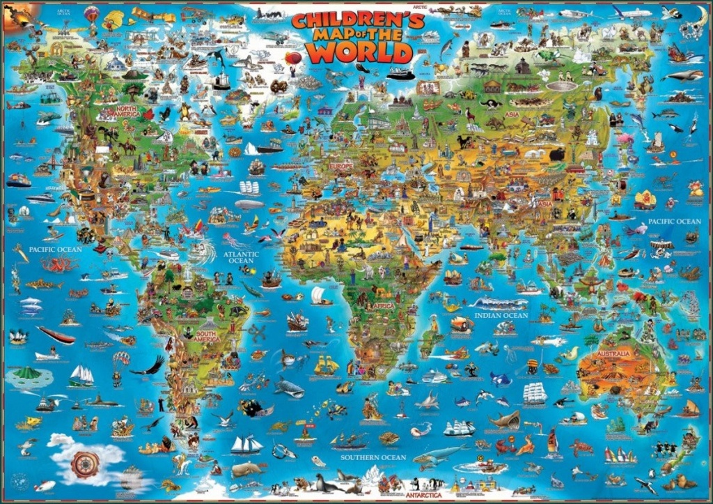81V0Puzjufl Children S Map Of The World 3 - World Wide Maps - Children's Map Of The World Printable
