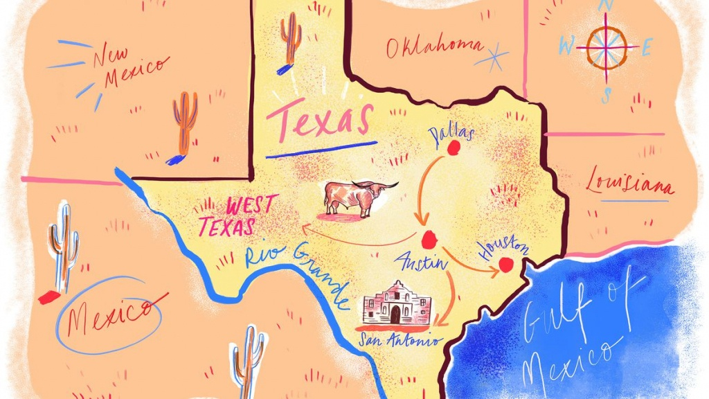 A Comprehensive Guide To Road Tripping Through Texas - Eater - Texas Bbq Trail Map