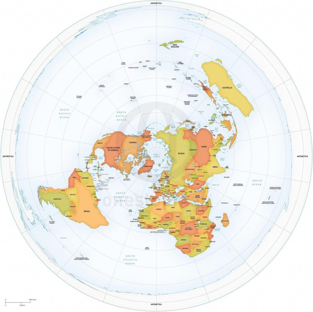 A Flat World Map Vintage World Map Printable Map Print Instant - Flat Map Of World Printable