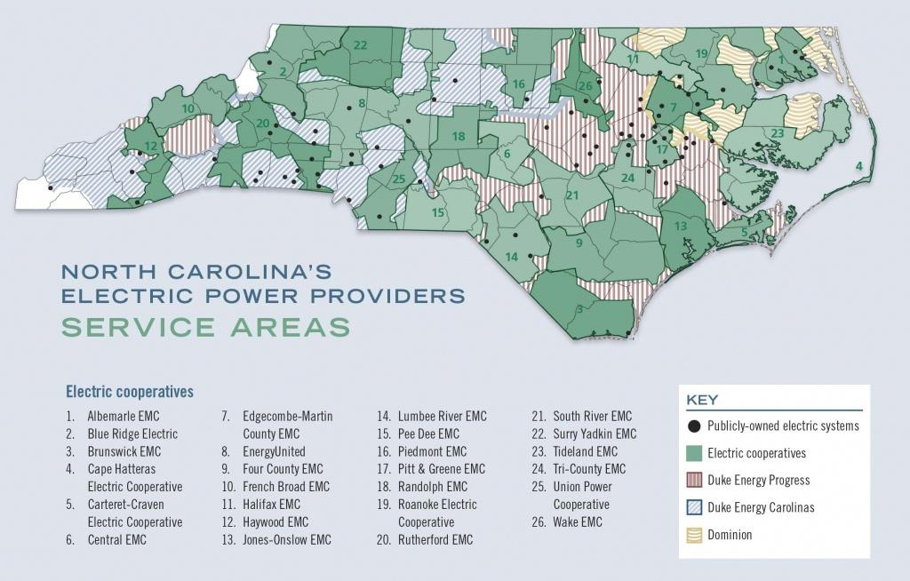 A Guide To North Carolina's Electric Power Providers - Carolina Country - Duke Energy Florida Coverage Map