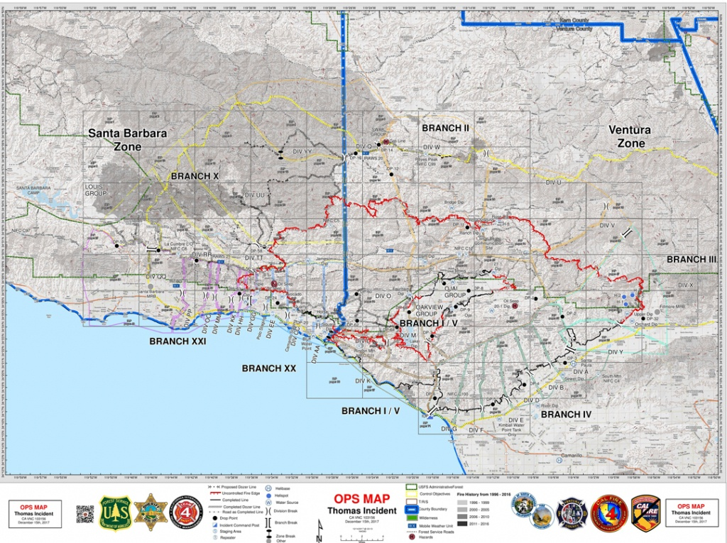 A Guide To Thomas Fire Maps | Local News - Noozhawk - Map Of Thomas Fire In California