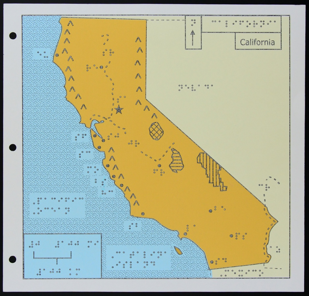 A Map Of California For The Blind | Kcet - California State Prisons Map