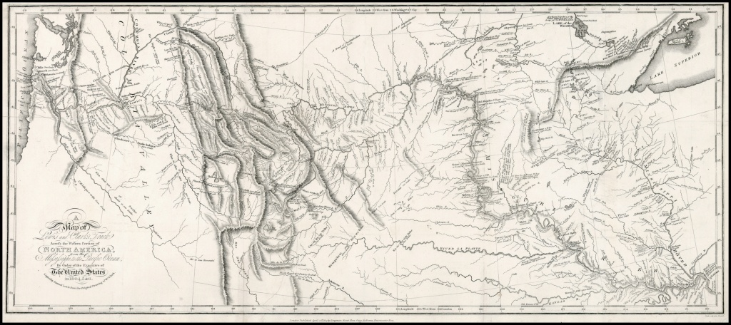 A Map Of Lewis And Clark's Track Across The Western Portion Of North - Lewis And Clark Printable Map