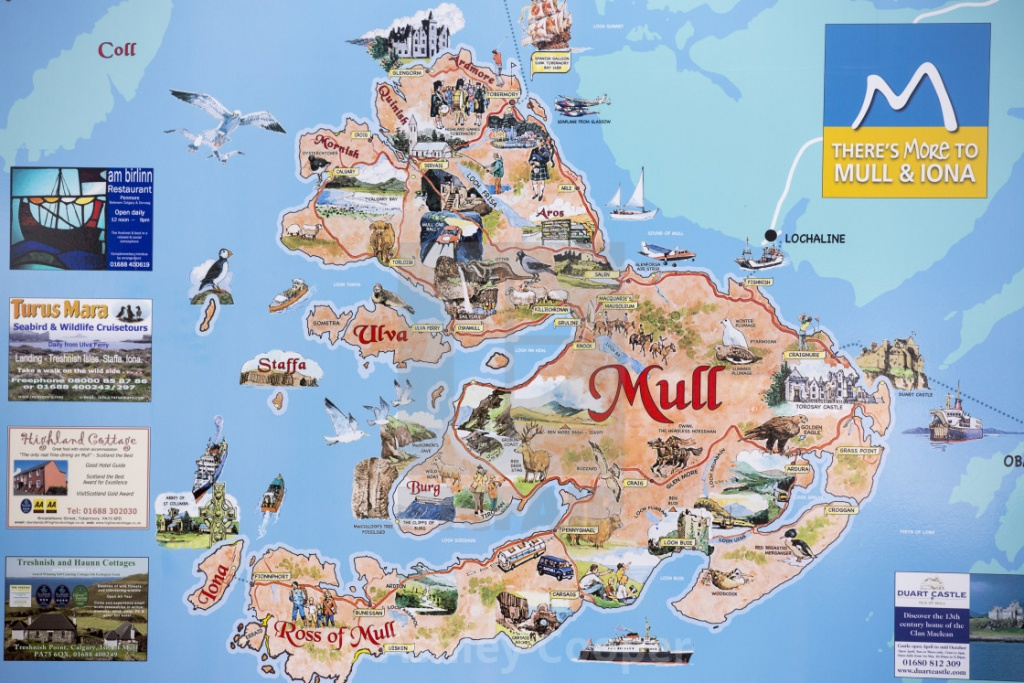 A Map Of The Isle Of Mull, Scotland, Uk. - License, Download Or - Printable Map Of Mull