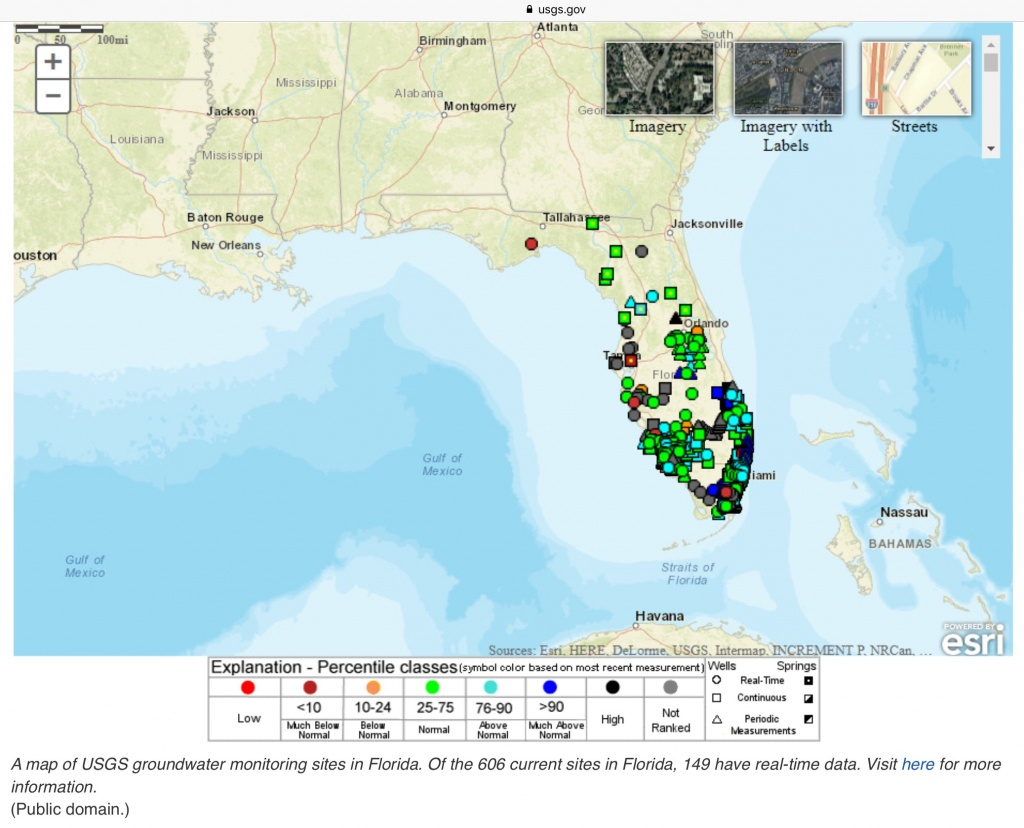 A Map Of Usgs Groundwater Monitoring Sites In Florida. Of The 606 - Florida Earthquake Map