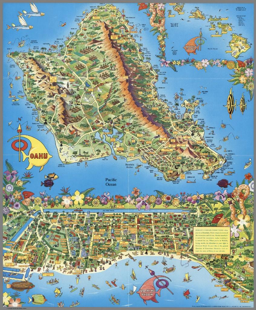 A Pic-Tour Map. Honolulu, Waikiki And 'round The Isle Of Oahu - Printable Map Of Waikiki