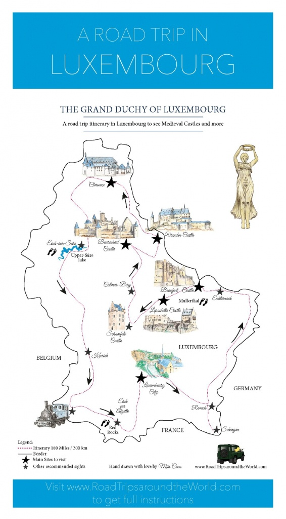 A Road Trip In Luxembourg: Free Printable Map For A Great Itinerary - Printable Road Trip Maps