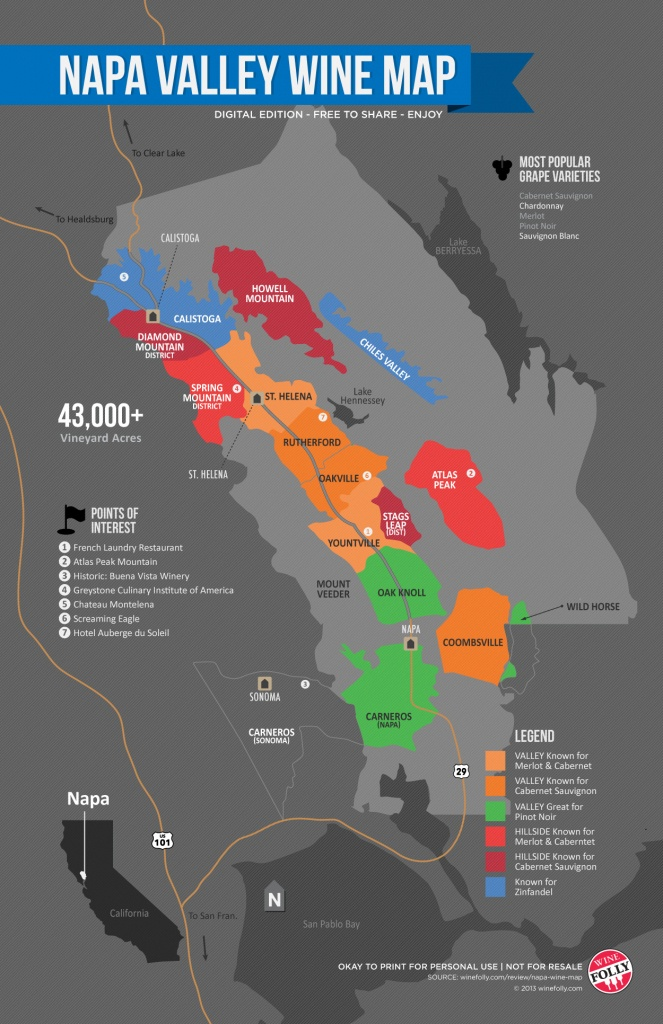 A Simple Guide To Napa Wine (Map) | Wine Folly - Map Of Northern California Wine Regions