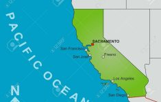 A Stylized Map Of The State Of California Showing Different Big   Big Map Of California
