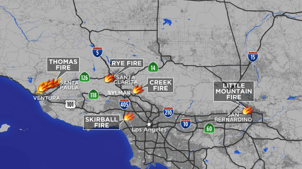 """Abc7 Eyewitness News On Twitter: """"maps: A Look At Each Southern - Fires In Southern California Today Map"""