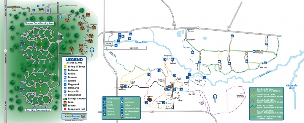 About Silver Springs State Park-Florida's First Attraction, World - Silver River Florida Map