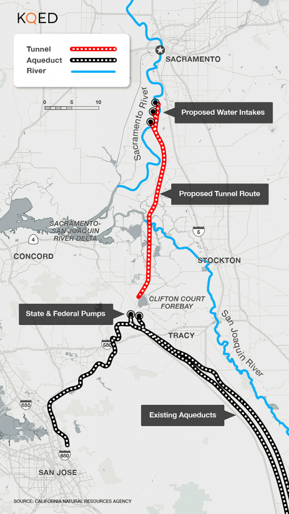 About That $17 Billion Water Project: Delta Tunnels 101   Election - California Aqueduct Fishing Map