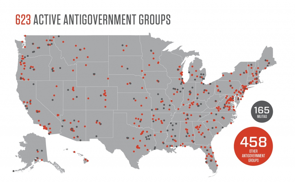 Active Patriot Groups In The Us In 2016 | Southern Poverty Law Center - Map Of Hate Groups In Texas
