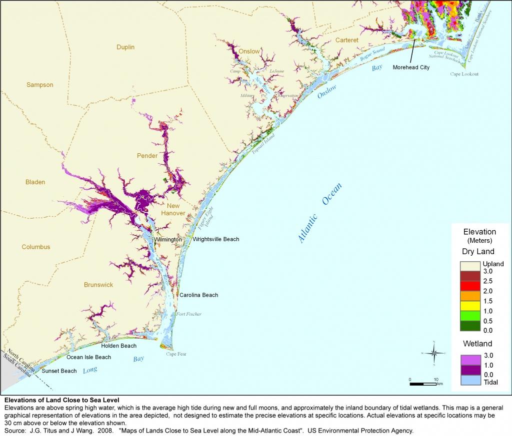 Adapting To Global Warming - Printable Map Of Ocean Isle Beach Nc