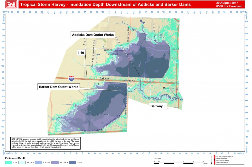 Addicks And Barker Potential Flood Maps - Barker Texas Map