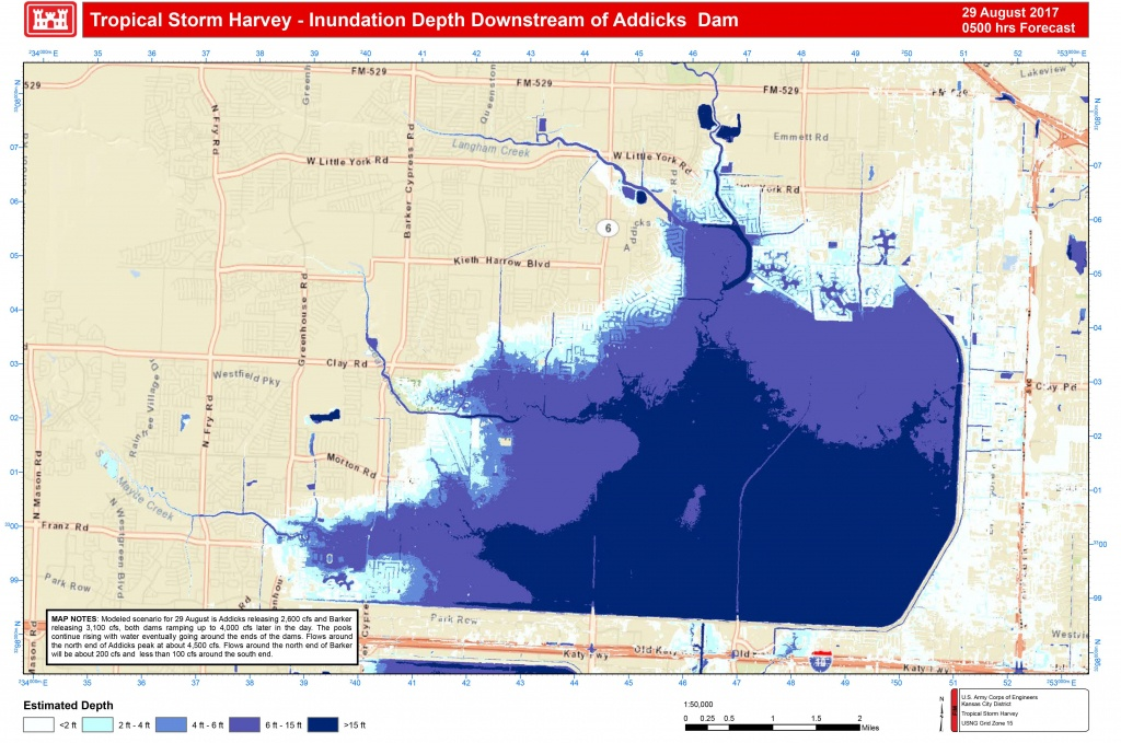 Addicks And Barker Potential Flood Maps - Clear Lake Texas Flood Map
