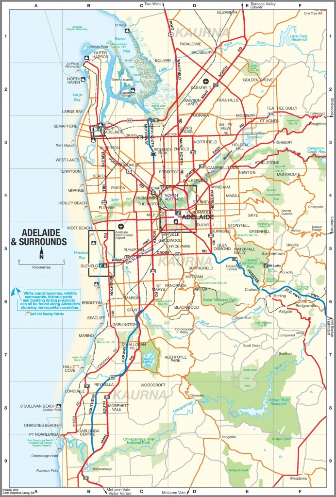 Adelaide Suburbs Map - Printable Map Of Adelaide Suburbs