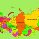 Administrative Divisions Map Of Russia   Printable Map Of Russia