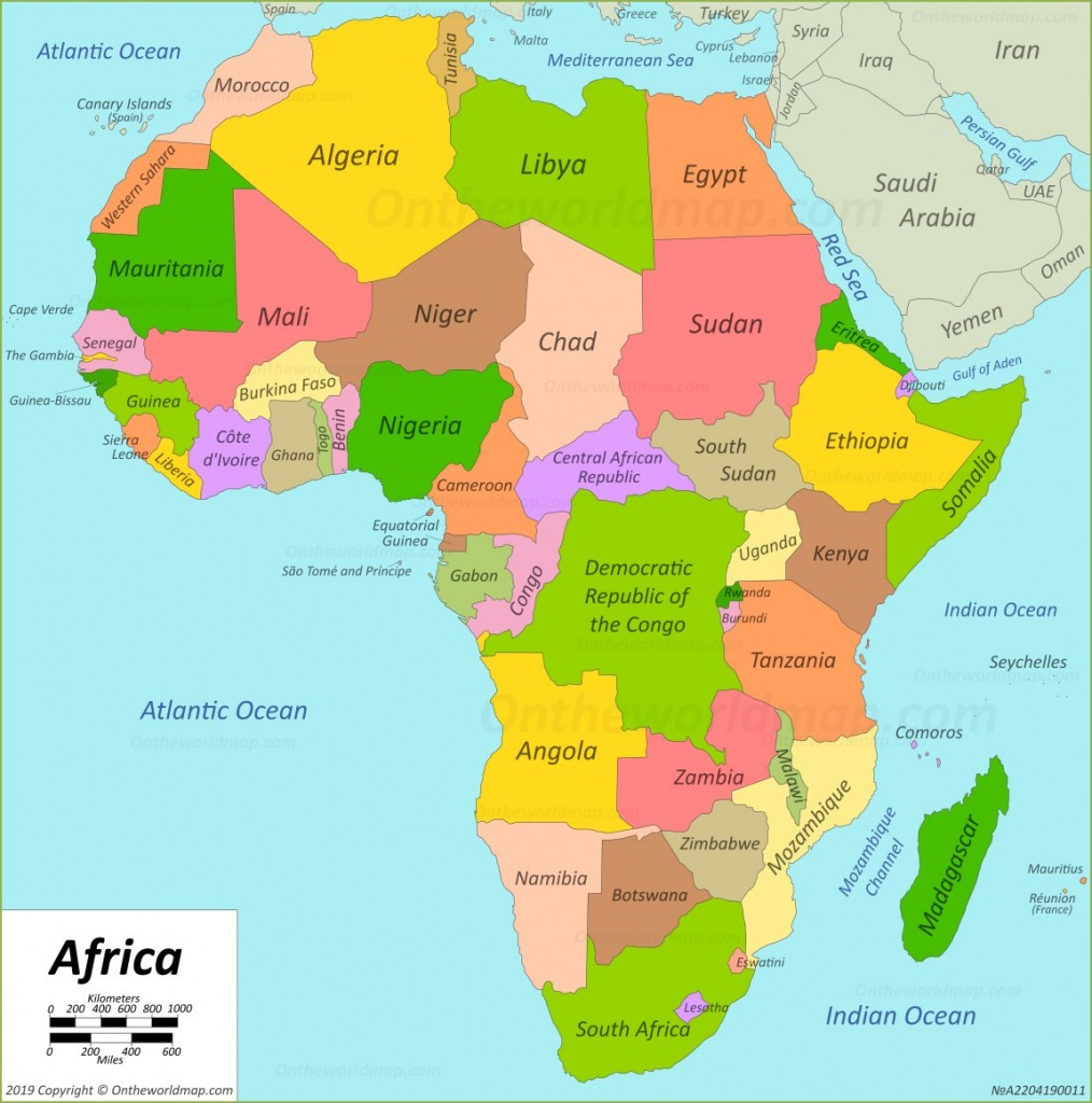 Africa Map | Maps Of Africa - Free Printable Map Of Africa