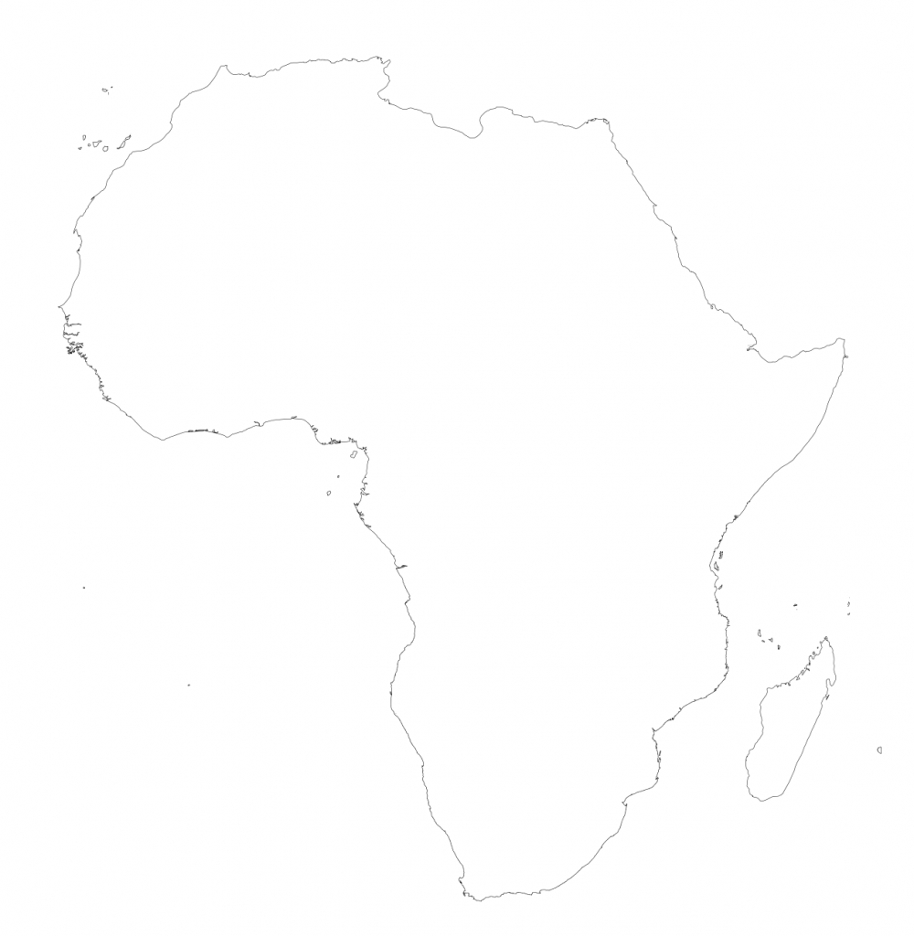 Africa – Printable Maps –Freeworldmaps - Blank Outline Map Of Africa Printable