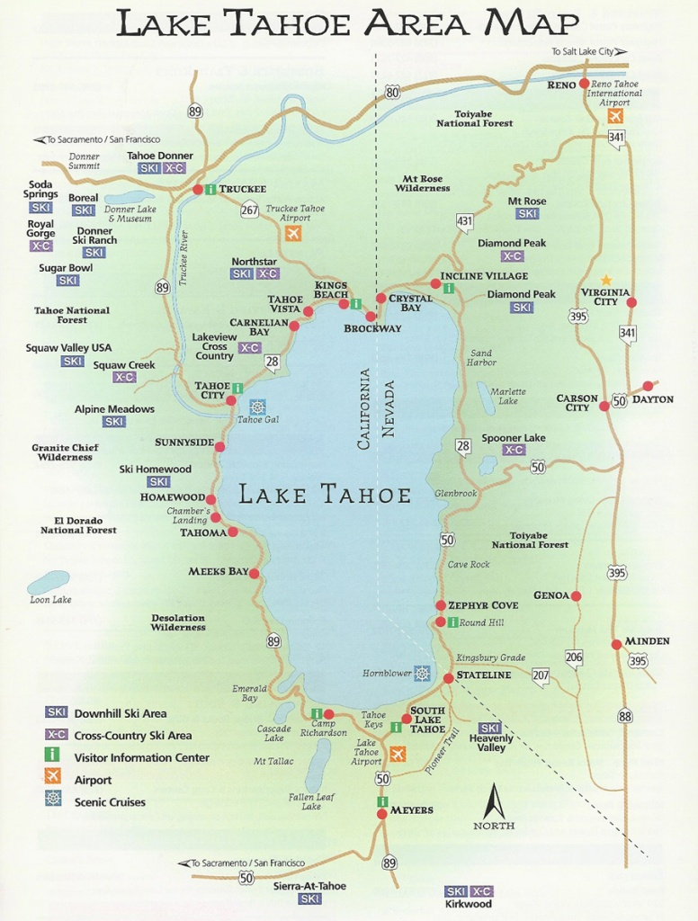 Agate Bay Properties | Area Map | North Lake Tahoe, Ca - Map Of Lake Tahoe Area California