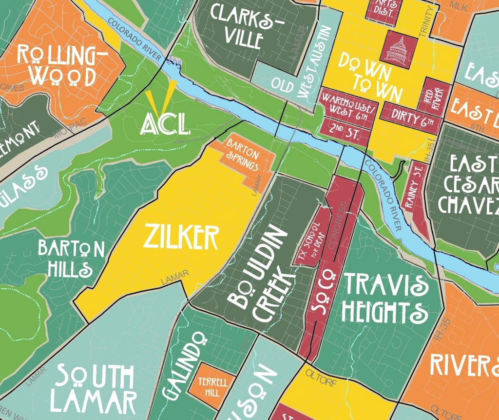 Aggregated Maps Of Austin — Austin's Atlas - Austin Texas Bike Map