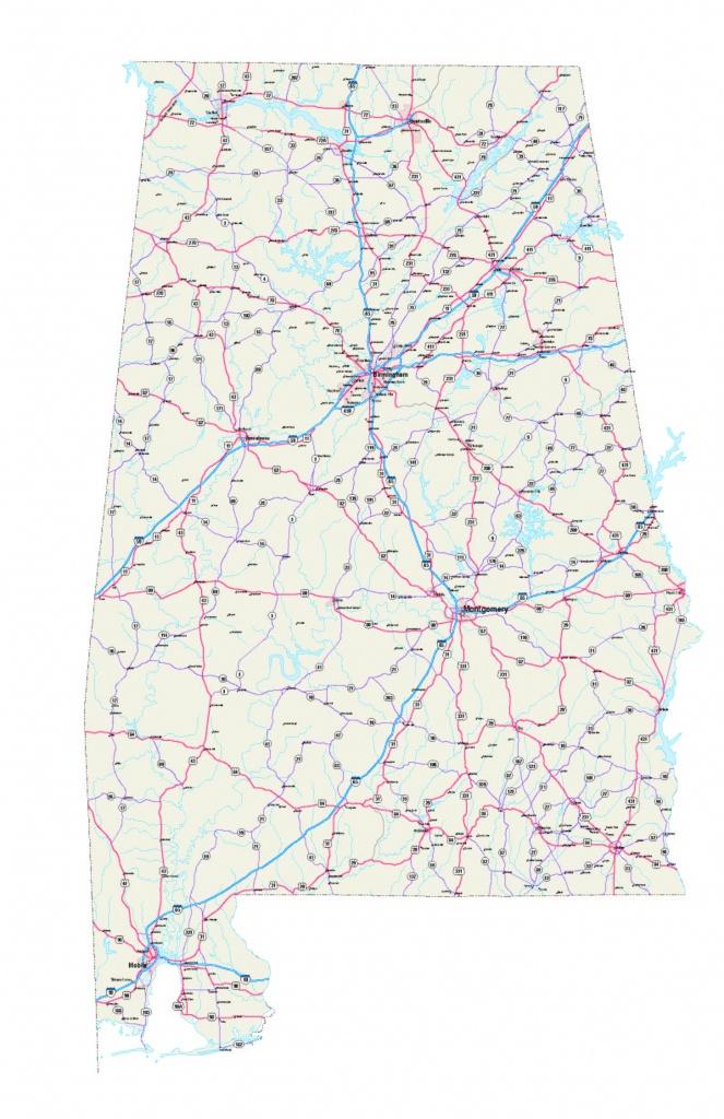 Alabama Maps - Free Printable Alabama Road Maps - Printable Alabama Road Map