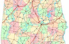 Alabama Printable Map   Printable Alabama Road Map