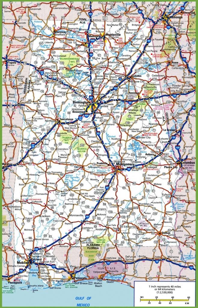 Alabama Road Map - Printable Alabama Road Map