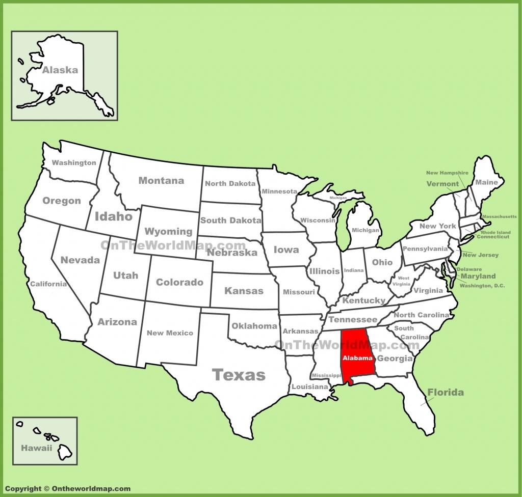 Alabama State Maps | Usa | Maps Of Alabama (Al) - Us Map Of Alabama And Florida