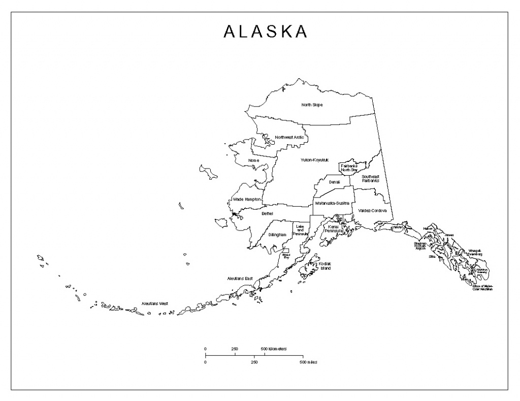 Alaska Labeled Map - Alaska State Map Printable