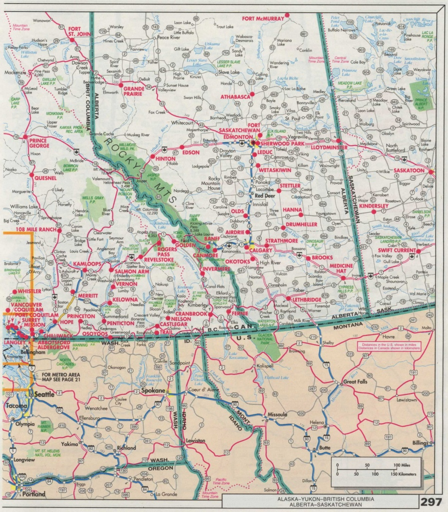 Alberta Road Map And Travel Information | Download Free Alberta Road Map - Printable Alberta Road Map