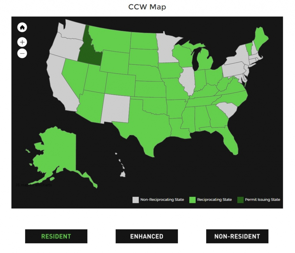 Alien Gear Holsters - Texas Concealed Carry States Map