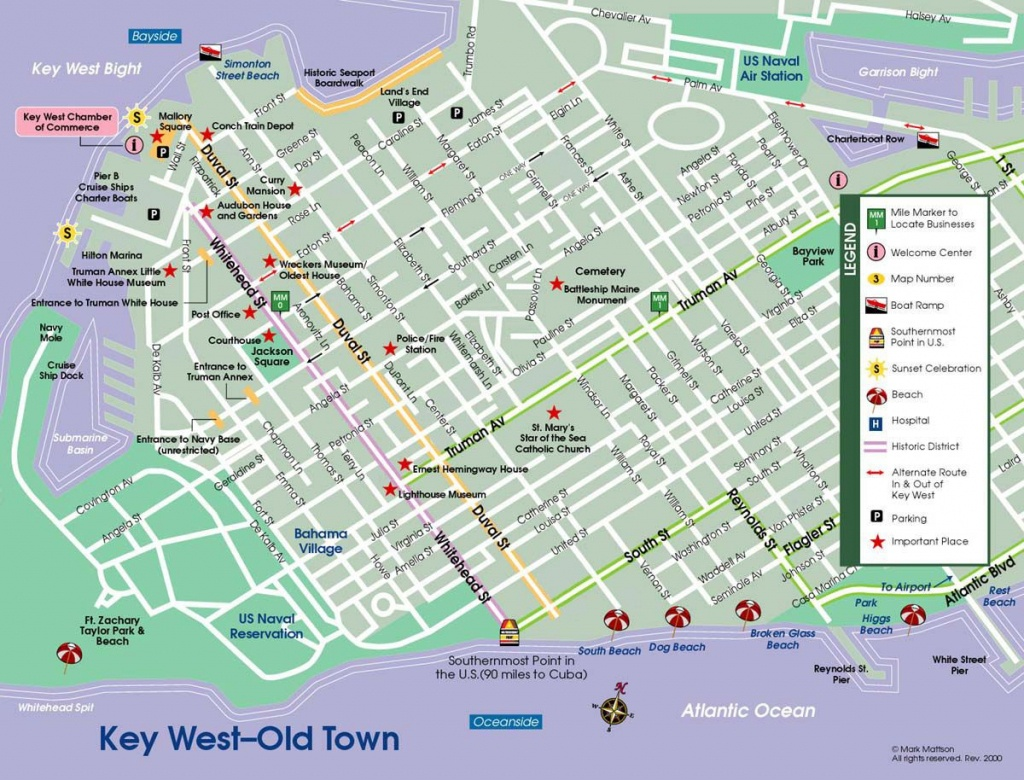 All Parrotheads Should Make A Pilgrimage At Least Once.   Places - Map Of Duval Street Key West Florida