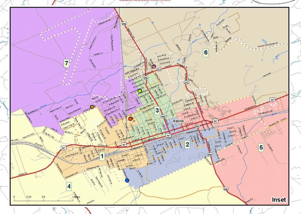 Alpine Isd - Maps Of Single Member Districts - Alpine Texas Map