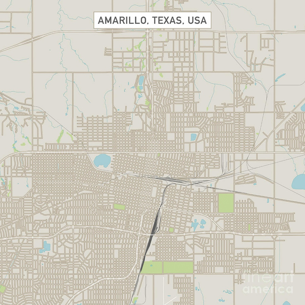 Amarillo Texas Us City Street Mapfrank Ramspott - City Map Of Amarillo Texas