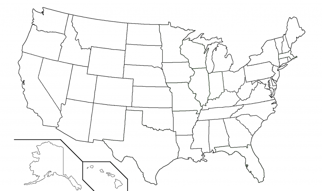 Amazing Ideas Us Map With State Borders Printable Blank Outline Usa - Printable Blank Us Map With State Outlines