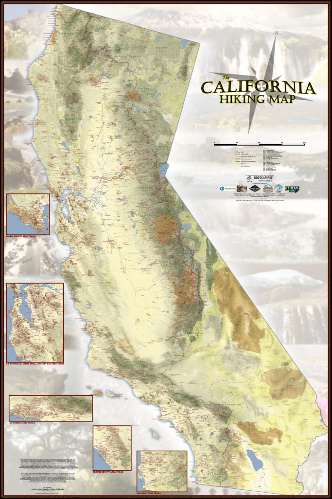 Amazing New Map Details Nearly Every Single Hiking Trail In - Backpacking Maps California