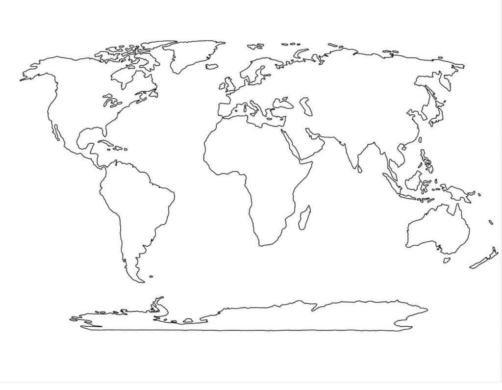 Amazing World Map Template 4 | Maps In 2019 | World Map Outline - World Political Map Outline Printable